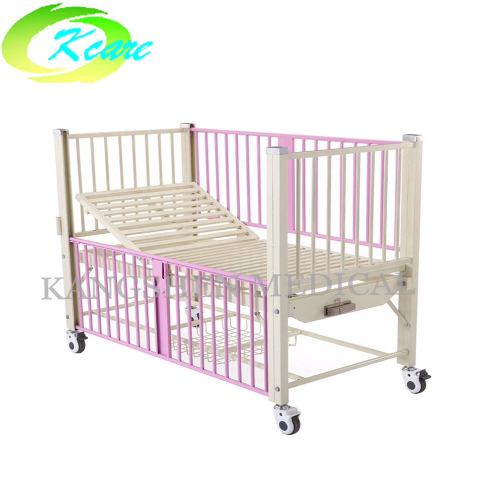 Steel manual one-function children bed for hospital KS-911