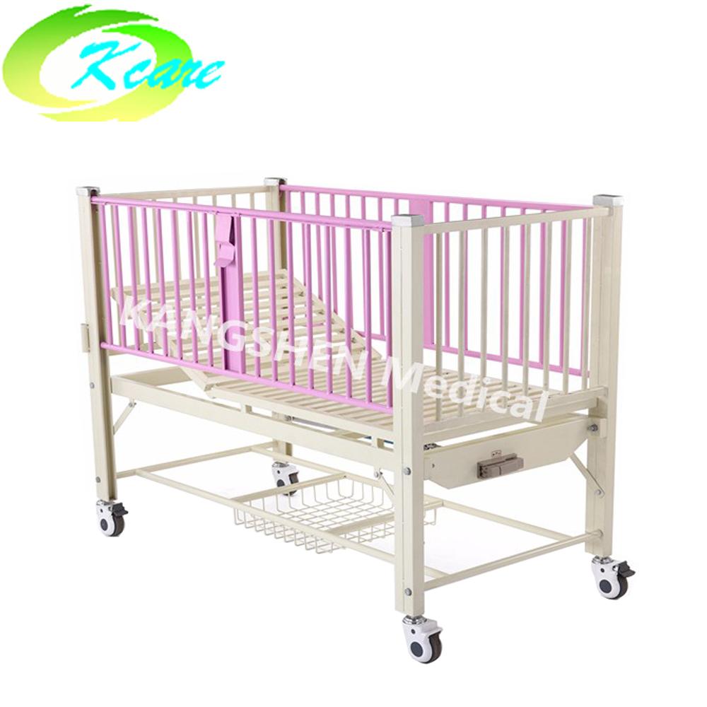 Steel manual one-function children bed for hospital KS-911