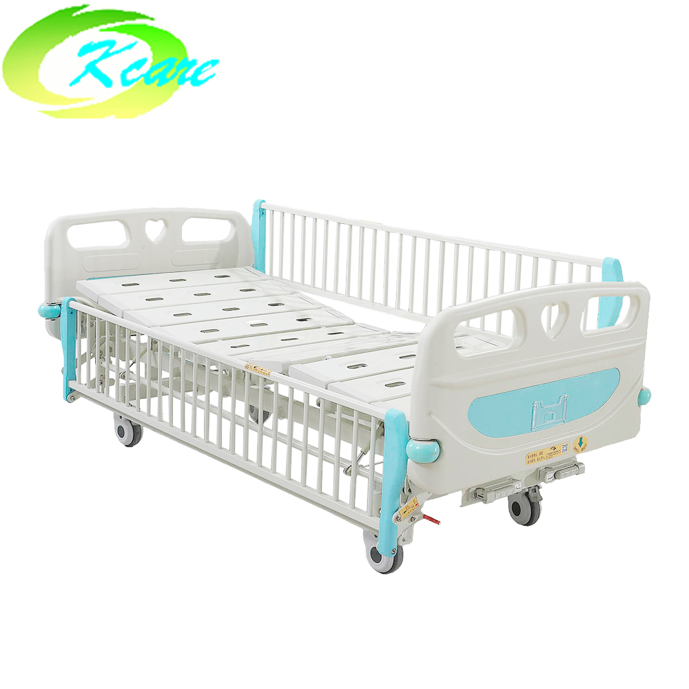 Kangshen Medical deluxe castor manual 2 cranks hospital children bed ks s201et Hospital Beds for Children image18