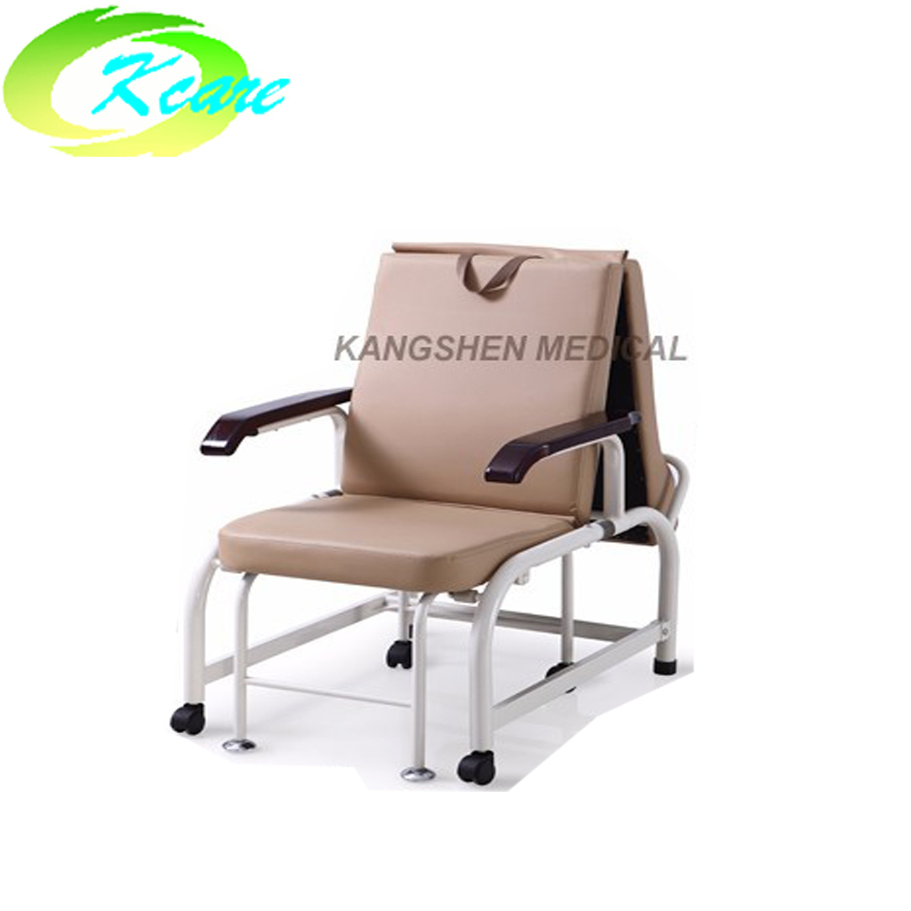 Movable hospital recliner chair bed and convertible hospital chair bed KS-D40