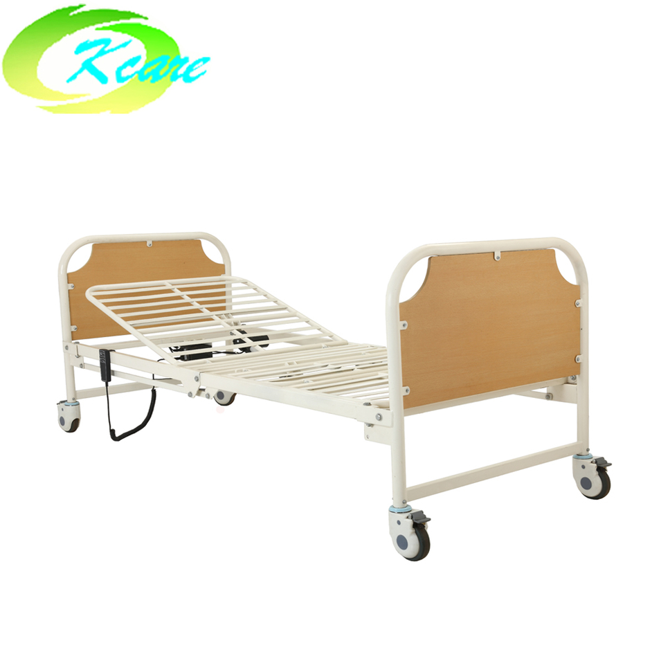 Cheap price adjustable foldable electric two functions elderly nursing home care bed KS-818b