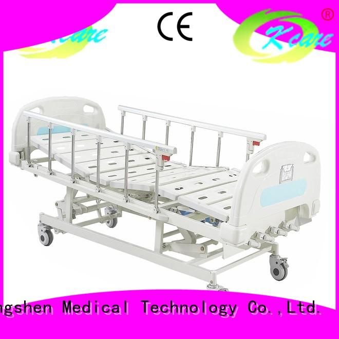 Kangshen Medical Brand backrest castors pp manual hospital bed price