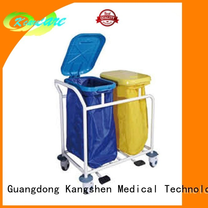 Kangshen Medical Brand scalloped line clean medical equipment cart three
