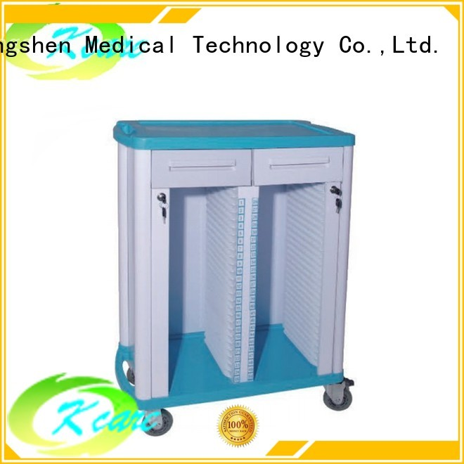 Custom treatment emergency medical trolley with drawers Kangshen Medical hospital