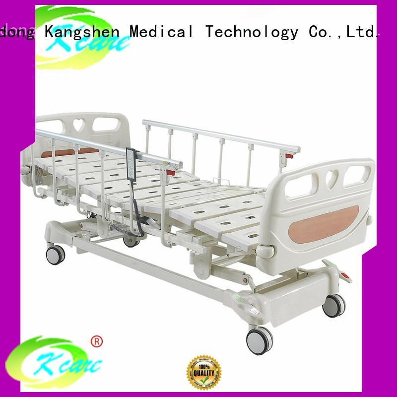 three collapsible Kangshen Medical Brand adjustable electric beds for sale factory