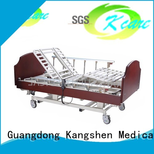 three elderly hospital beds for home use wood Kangshen Medical Brand company