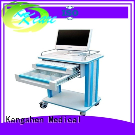 hospital emergency treatment medical trolley with drawers Kangshen Medical Brand company