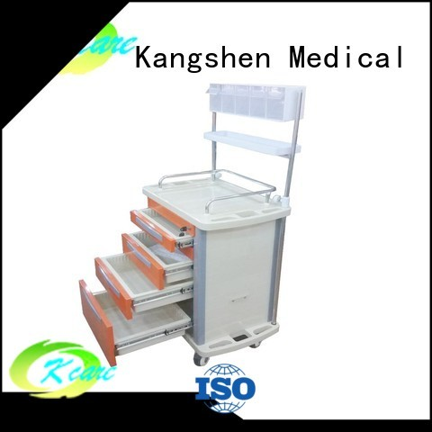 Custom emergency hospital medical trolley with drawers Kangshen Medical trolley