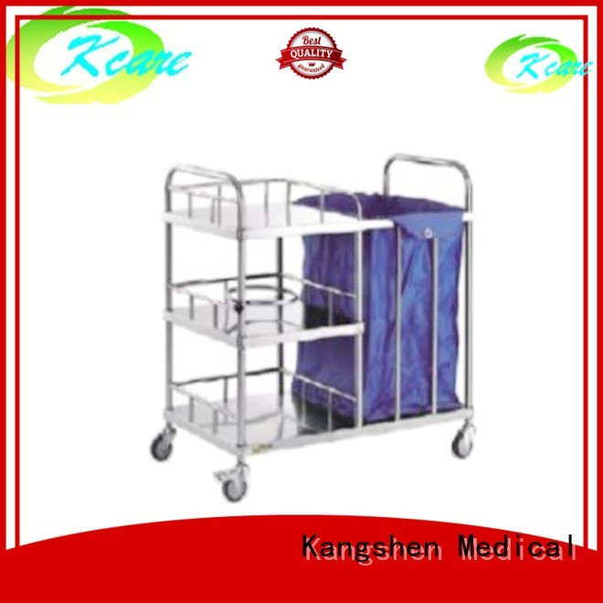 two-shelf sale medical Kangshen Medical Brand medical equipment cart manufacture