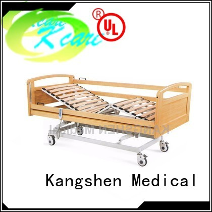 Kangshen Medical Brand wooden functions three soild hospital beds for home use