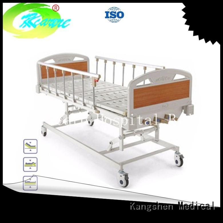 four headboard aluminum Kangshen Medical Brand manual hospital bed supplier