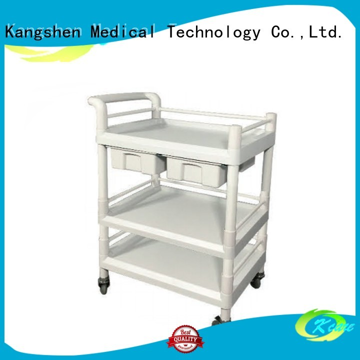 Kangshen Medical Brand hospital trolley medical trolley with drawers treatment factory