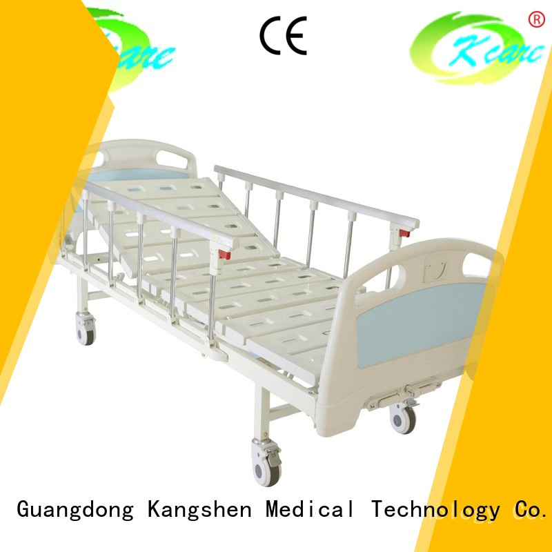 Kangshen Medical Brand headboard one height manual hospital bed price