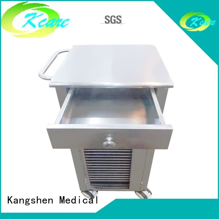 two-shelf sale shelves medical equipment cart Kangshen Medical manufacture