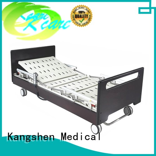 solid three function wooden Kangshen Medical Brand hospital beds for home use supplier