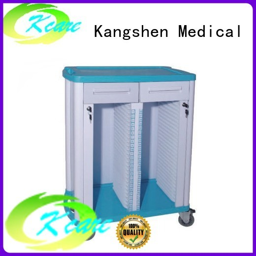 Custom cart abs medical trolley with drawers Kangshen Medical trolley