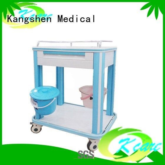 abs cart medical trolley with drawers trolley Kangshen Medical