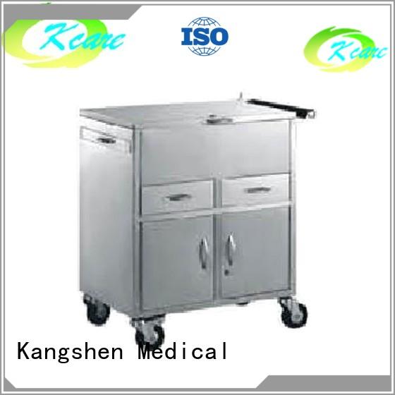 drawer stainless locking Kangshen Medical Brand medical equipment cart factory