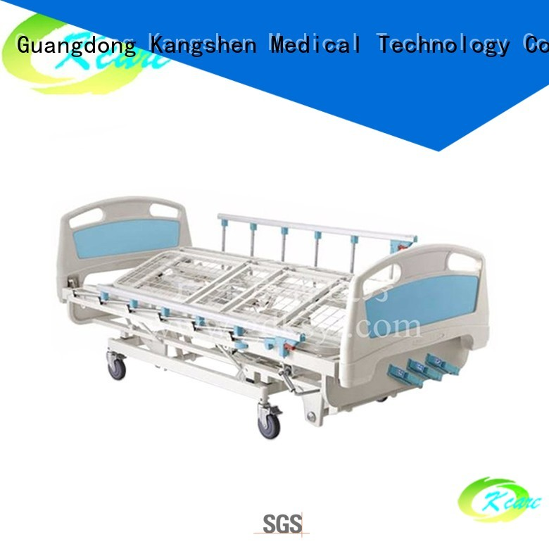 Kangshen Medical Brand castors headboard design manual hospital bed price small