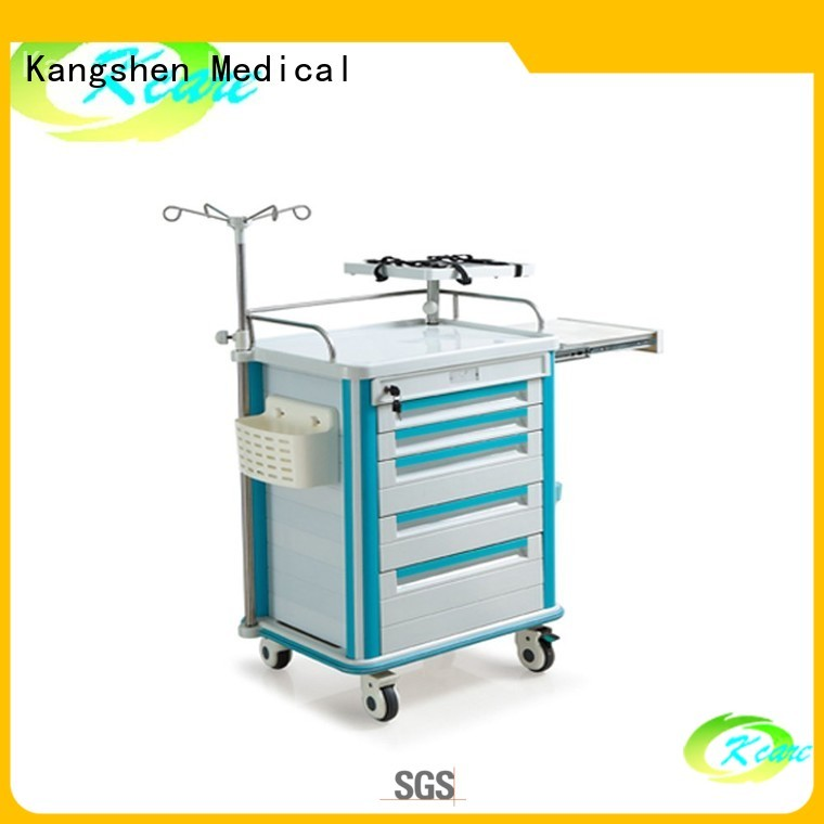 Wholesale cart abs medical trolley with drawers Kangshen Medical Brand