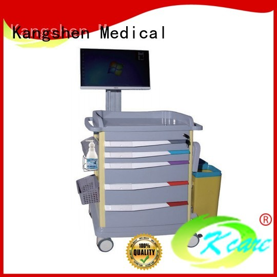 Quality Kangshen Medical Brand trolley abs medical trolley with drawers