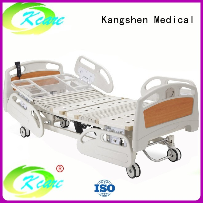 Hot collapsible adjustable electric beds for sale rails Kangshen Medical Brand