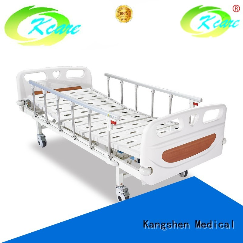 Custom aluminum bedboard manual hospital bed Kangshen Medical plastic