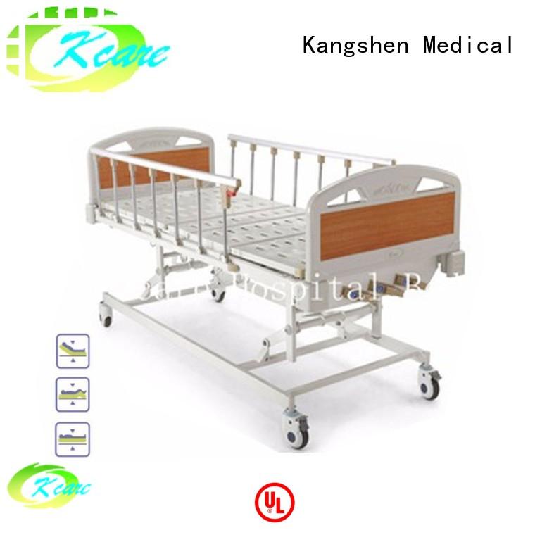 Kangshen Medical Brand aluminum crank vertical manual hospital bed manufacture