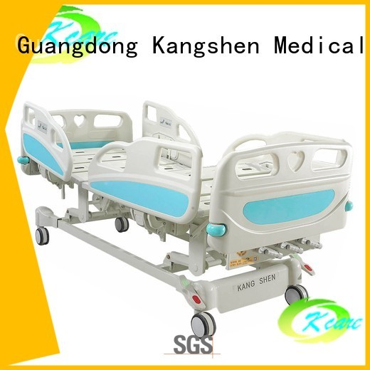 Quality Kangshen Medical Brand adjustable wheels manual hospital bed