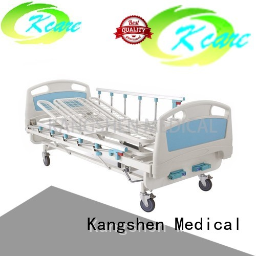 Kangshen Medical Brand operated manual medical manual hospital bed price 125mm