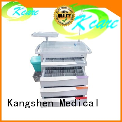hospital treatment emergency medical trolley with drawers Kangshen Medical Brand company